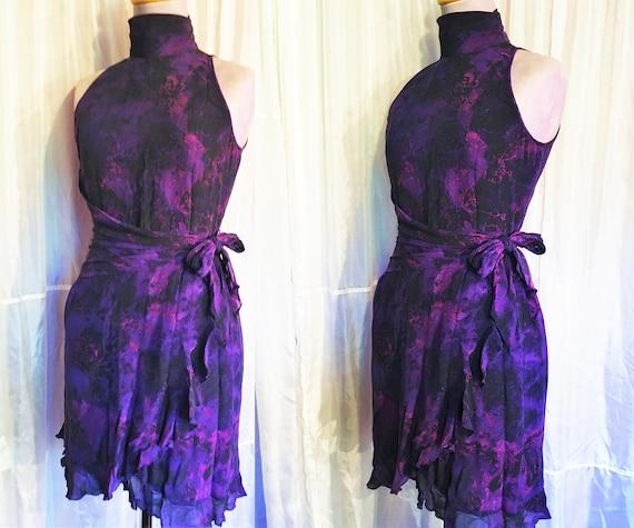 Vintage Ungaro Paris Silk Halter Dress - image 1
