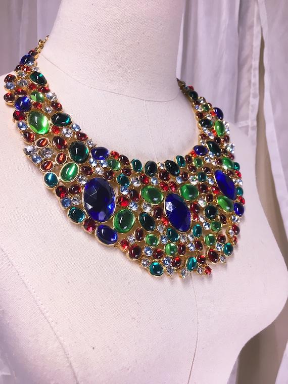 Vintage Scaasi Opulent Crystal Bib Signed Necklace - image 4