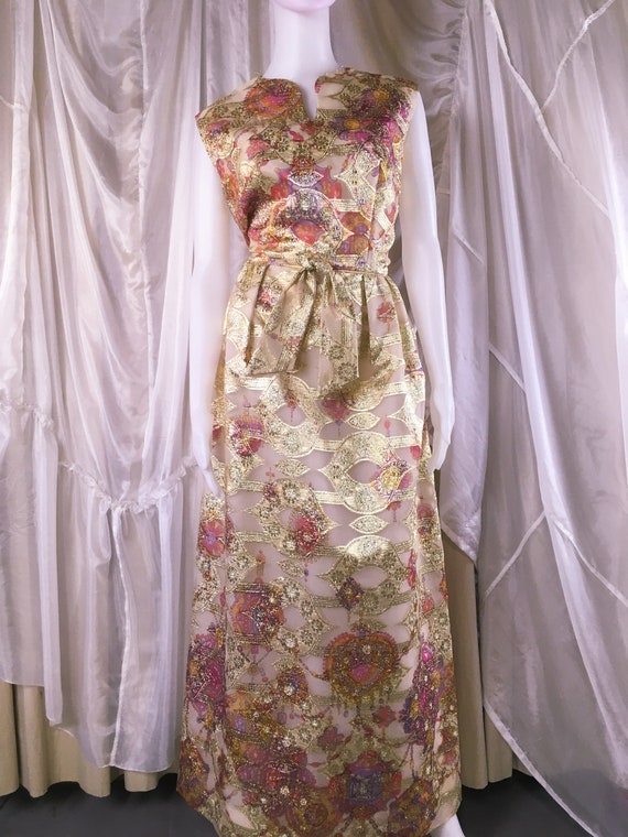 Vintage 1960s Alice of California Gold Lurex Lame