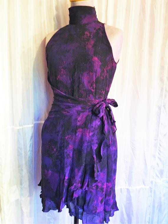 Vintage Ungaro Paris Silk Halter Dress - image 2