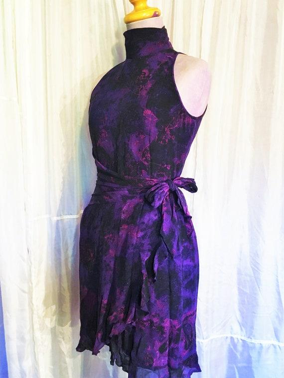 Vintage Ungaro Paris Silk Halter Dress - image 5