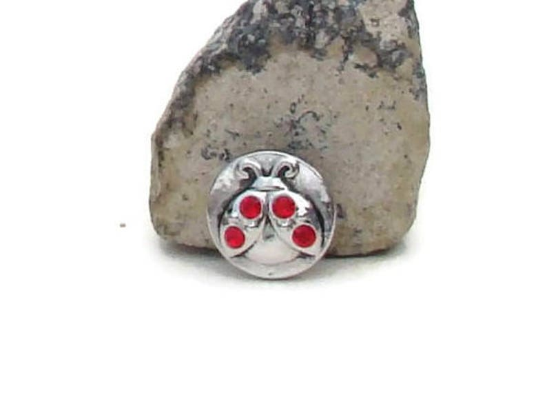 ladybug design like ginger snaps and magnolia and vine MINI 12 mm noosa style snap charm button for snap button jewelry