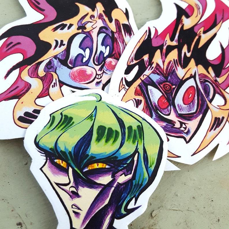 Stickers Yu Gi Oh Yugi And Seto Kaiba Yugioh Season 0 Etsy