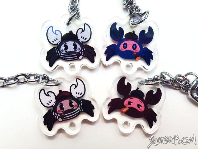 TF2 Spy Spycrab charms and stickers! Team Fortress 2, double sided 1