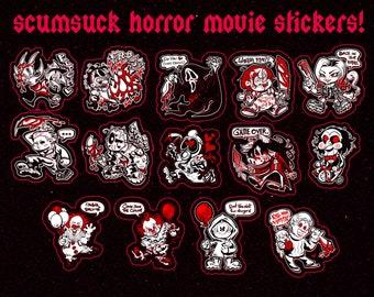 Horror n' Slasher Stickers!