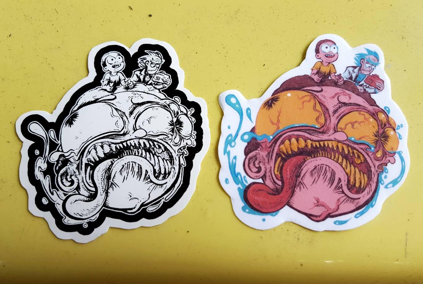 STICKER: Rick and Morty sticker big head Morty Pocket | Etsy