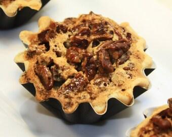 "Bourbon Toasted Pecan Pie - 1 dz of 3"" Mini Pies"