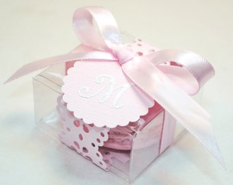 Pink Doily Shower Favors, Favor Boxes - 30 Favor Boxes, Bridal or Wedding Favors