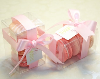 Pink Ombre Favor Boxes - 12 pcs. Pink Shower Favors, Pink Bridal Favors