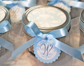 It's a boy Pie in the jars, Baby boy shower  - 3 Pie in the jars