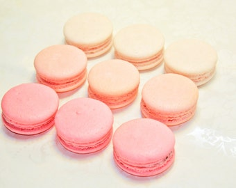 Pink Ombre French Macaron, Organic  - 3 dozens