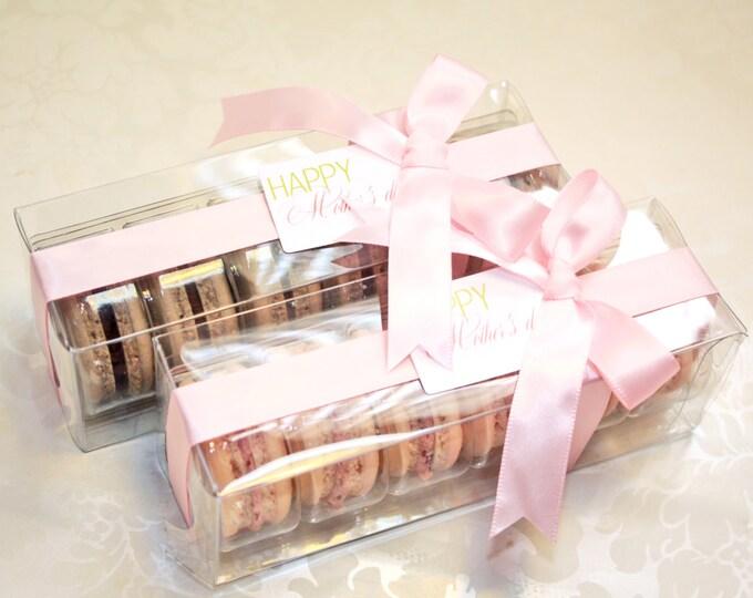 Featured listing image: Pink Macaron box, Bridesmaids gifts - 1 dozen