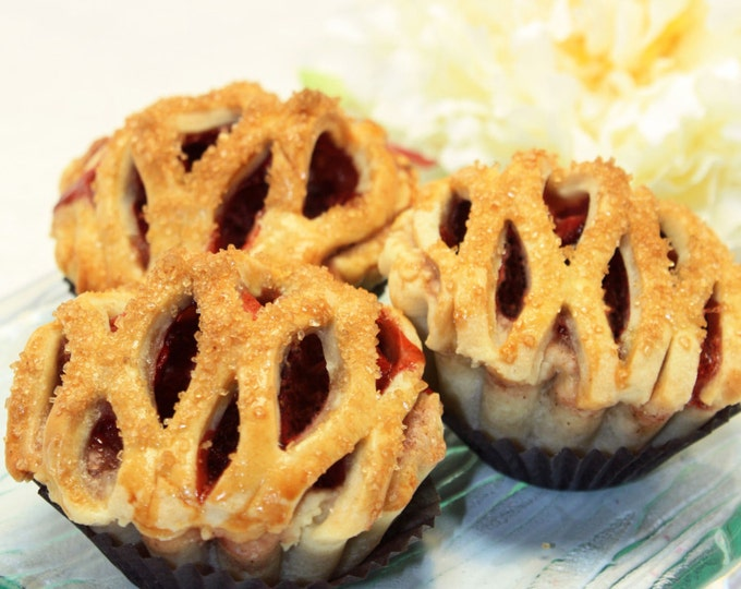 "Featured listing image: Organic Cherry Pie - 1 dz. of 3"" Mini Pies"