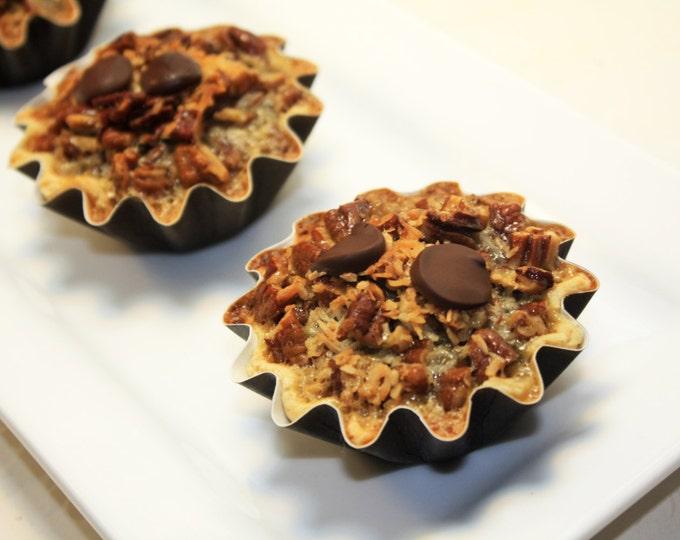"Featured listing image: German Chocolate Pecan Pie - 6 pcs. of 3"" Mini Pies"