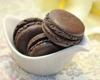 Dark Chocolate French Macaron, Organic - 1 dozen