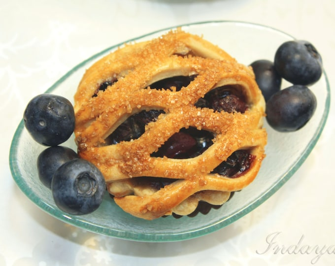 """Featured listing image: Organic Blueberry Pie - 6 pcs. of 3"""" Mini Pies"""