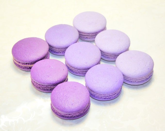 Featured listing image: Purple French Macaron, Ombre macaron - 3 dozens