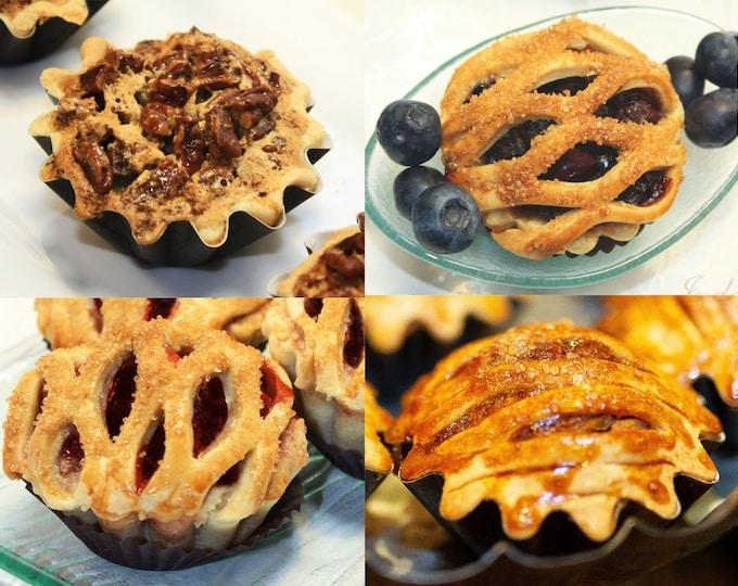 """Featured listing image: Mini Pies, Sample Pack - 12 pcs. varieties of 3"""" Mini Pies"""