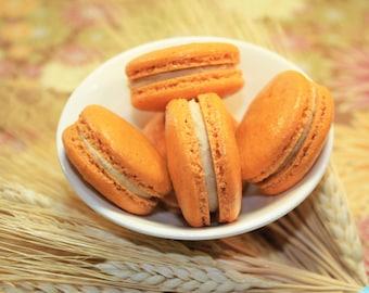 Pumpkin Spice French Macaron - 1 dozen