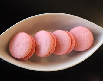 Pink Strawberry French Macaron - 6 pcs.