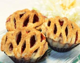 "Organic Cherry Pie - 1 dz. of 3"" Mini Pies"