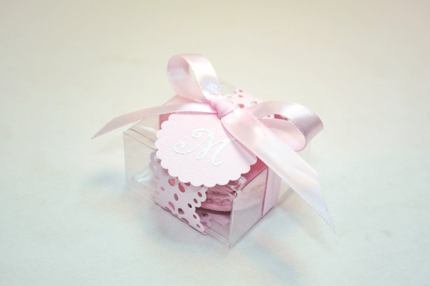 Pink Macaron Favor box - Wedding Favor Boxes - 30 Favor Boxes ...