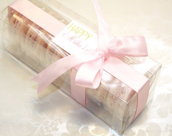 French Macaron Box, Bidesmaid gifts, Gift For Her - 6 pcs.