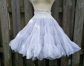 a126bc4d83 Vintage Partners Please by Malco Modes White Crinoline Square Dance