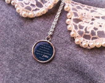 Song Quote series Vasco Rossi-Sally song quote necklace
