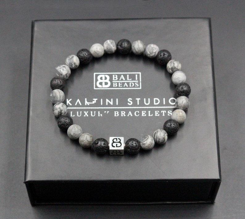 Bracelet for Man Black Bracelet Men Bracelets for Men Mixed Black Stone and Gold Bracelet Onyx Bracelet Lava Bracelet Man/'s Bracelet
