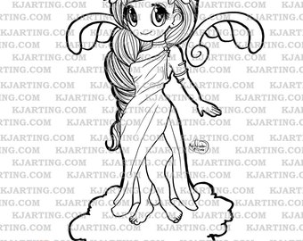 Cheeky Greek Chibi (Line_Art Printable_00227 KJArting)