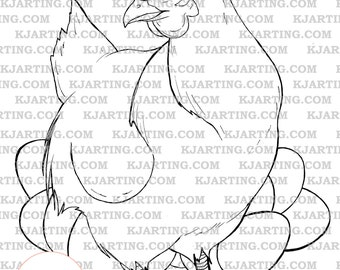 Rapunzel Im Turm Malvorlagen Line Art Printable 00198 Etsy