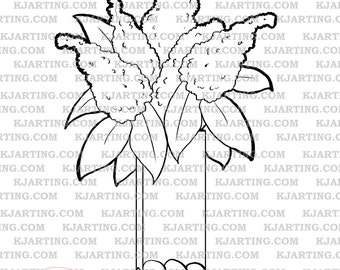 Bouquet (Line_Art Printable_00245 KJArting)