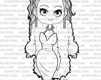 Fashionable Fur Digital Stamp (Line_Art Printable_00113 KJArting)