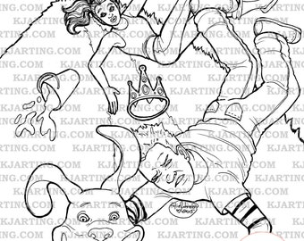 Jack and Jill Coloring Page (Line_Art Printable_00185 KJArting)