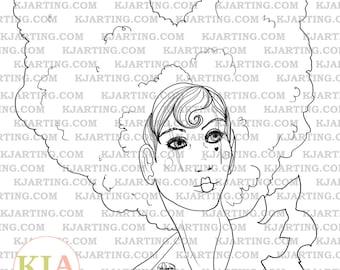 Carny Digital Stamp (Line_Art Printable_00143 KJArting)