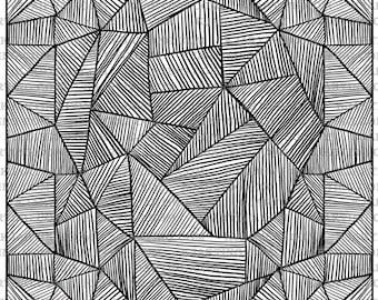 Leaves Zendoodle (Line_Art Printable_00205 Zen10 KJArting)