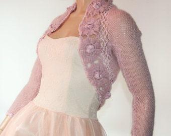 Wedding Bridal Bolero Shrug Lace Crochet Shrug Boleros Mohair