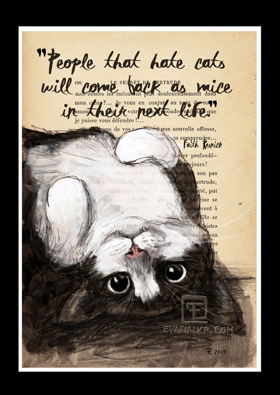 Art Print - People that hate cats......