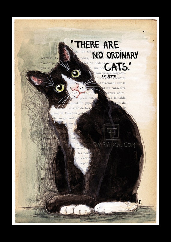 Art PrintArt - There are no ordinary cats...