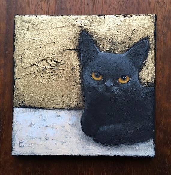 LUNA, original painting on canvas by Eva Fialka