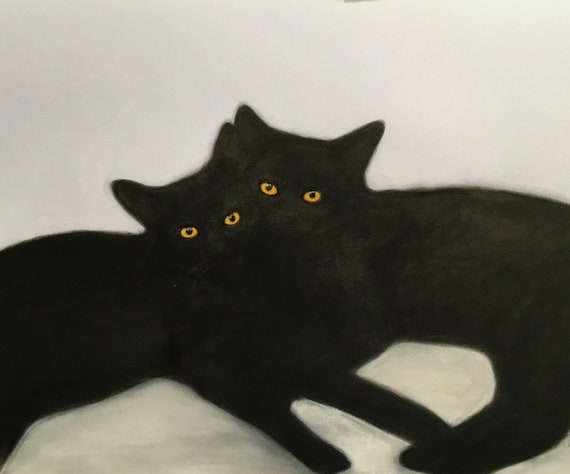 BROTHERS original dessin au pastel de Eva Fialka