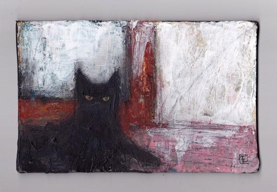 At home, original acrylic paint on coated cardboard, Eva Fialka