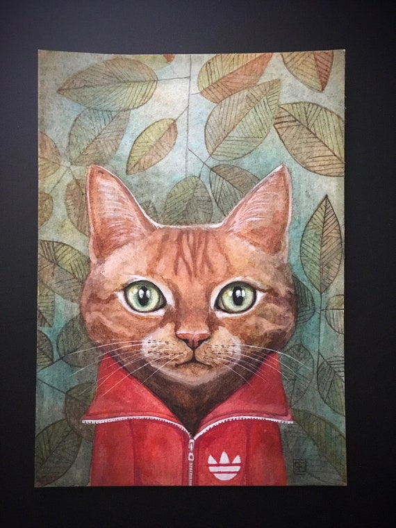 MISKA , original painting on paper by Eva Fialka