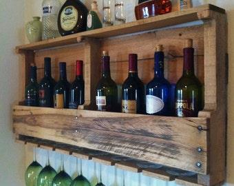 Rustic Wine Rack Etsy