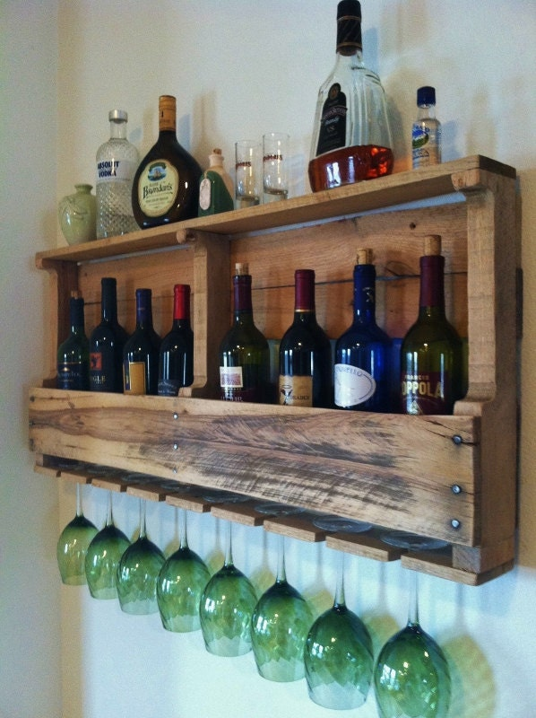 The Great Lakes, Wine Rack, Reclaimed, Wood, Rustic, Wine, Storage, Handmade