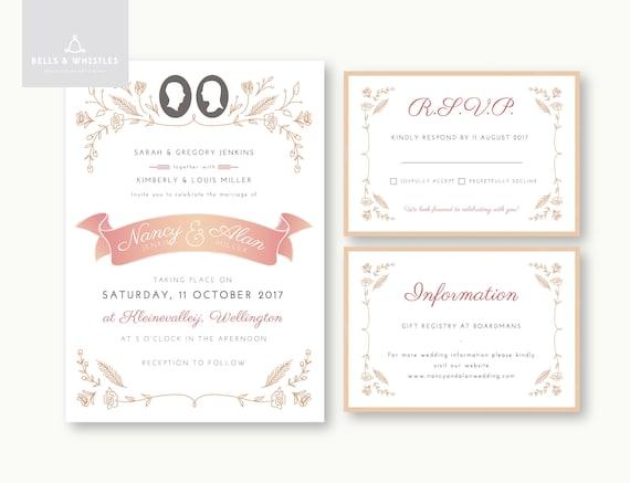 Printable Wedding Invitation Suite Etsy