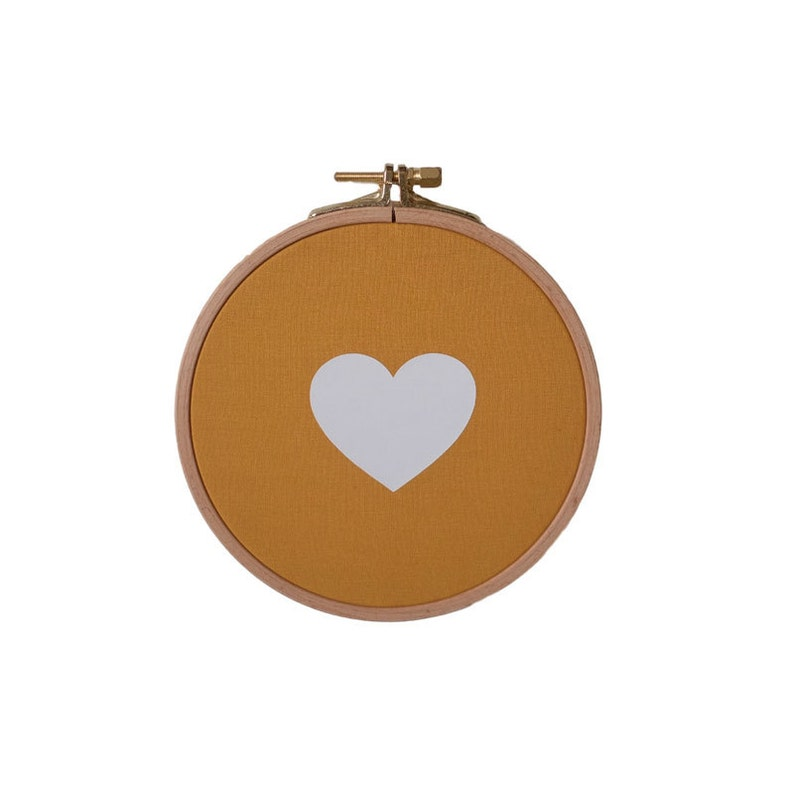 Heart Wall frame  Yellow Mustard and White  Valentine Day  image 0