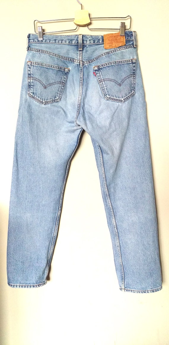 c21979b0a9f Vintage 90 s Levi s 501 blue stone-washed jeans