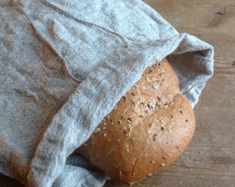 Linen bag / produce bag / bread bag / drawstring bag